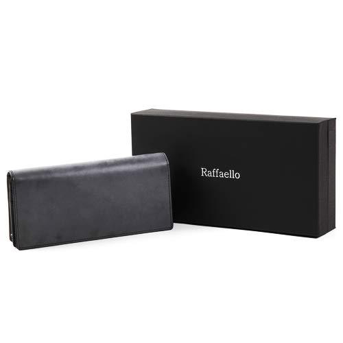 [ラファエロ]Raffaelo一流の革職人が作る英国王室が愛する表裏フルブライドルレザーメンズ二つ折り長財布(ロイヤルブラック)