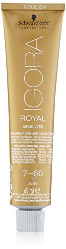 Schwarzkopf IGORA Royal Absolutes Permanent Anti-Age Color Creme 7-60 mittelblond schoko natur, 1er Pack (1 x 60 ml)