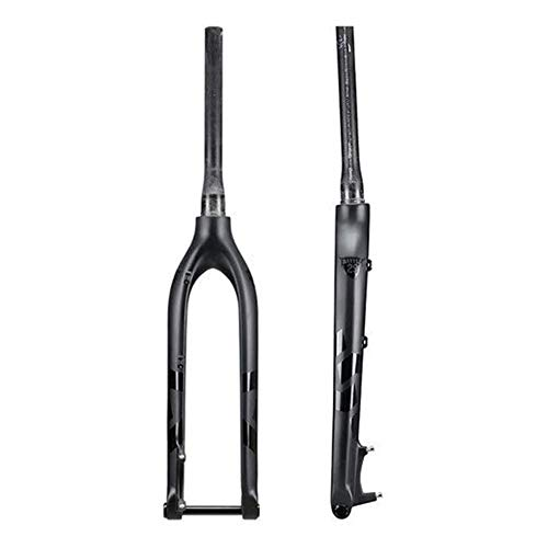 YSHUAI Bike Front Fork Suspension Fork Bicycle 29Er Carbon Fork Rigid 27.5 Bicycle MTB Front Fork Carbon Rigid Fork Axle Thru 15X100mm 27.5Er Mountain Forks,27.5inch