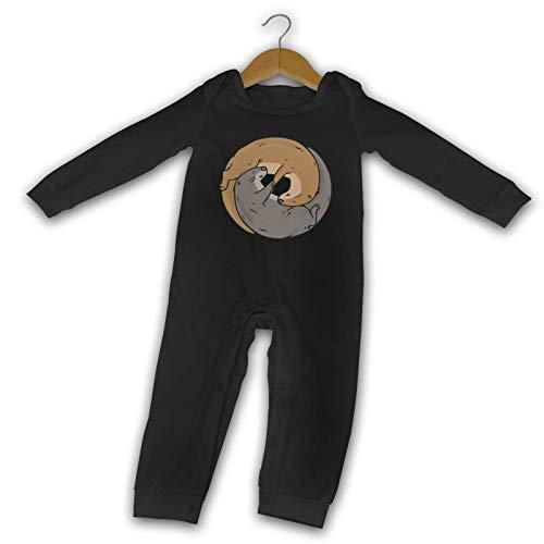 Yin Yang Otter Baby Boy Romper Jumpsuit Long Sleeve Infant Romper Jumpsuit