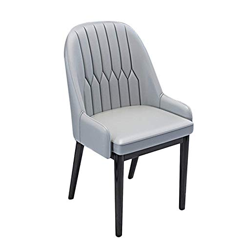 Dining Chair Faux Leather Armchair Tub Chairs with Comfortable Padded Seat Dining Living Room Lounge Home Reception Restaurant Chairs (Color : Yellow+Gray)