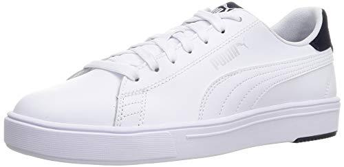 PUMA Serve Pro Lite, Zapatillas Unisex-Adulto, Blanco (White/White Peacoat), 43 EU