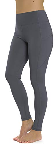 Prolific Health Leggings High Waist with Pockets Yoga Pants 4 Way Stretch (X-Large, Gray)