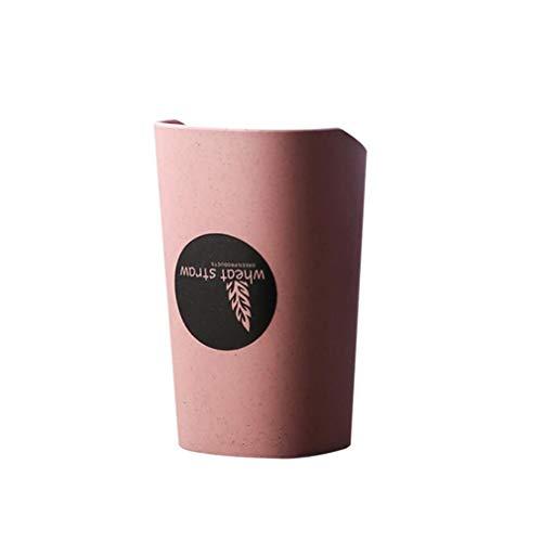 Pinhan Einfache wiederverwendbare Trinkbecher Travel Bad Zahnputzbecher Weizenstroh Zahnbürstenhalter Gargle Cup für Home Travel, Nordic Pulver