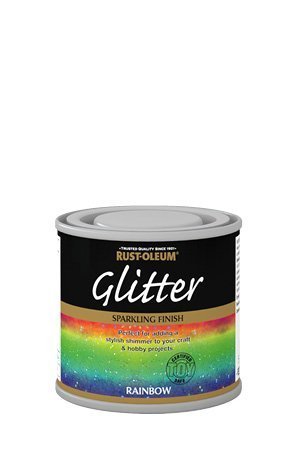 Rust-Oleum funkelndem Glitzer-Regenbogen-Safe Bürste mit Lack 125 ml