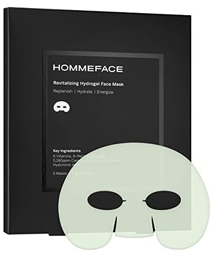 HOMMEFACE Revitalizing Hydrogel Facial Sheet Mask Set for Men (5 sheets)