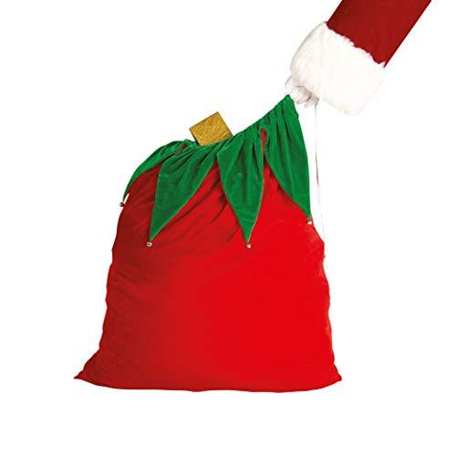 Rubies Officielle en Velours Sac de Père Noël avec Cloches de Noël Sack, déguisement Adulte – Taille Unique
