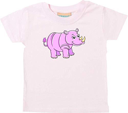 Bébé Kids-T, Rhino Rhino Animal Animal Nature - Rose, 18-24 Monate