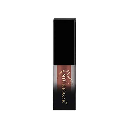 Vobery Barra de labios de aloe vera, color rojo, mate, resistente al agua, antiadherente, no pierde color (E)