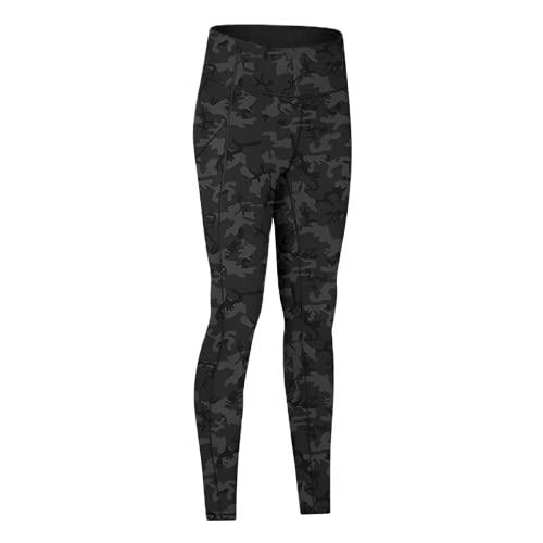 QTJY Pantalones de Yoga Suaves de Cintura Alta para Mujer Ajustados elásticos y de Secado rápido para Mujer al Aire Libre EL