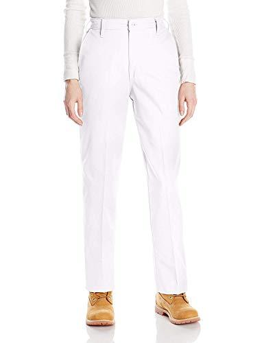 Red Kap Women's Elastic Insert Work Pant, White, 10W x 30L