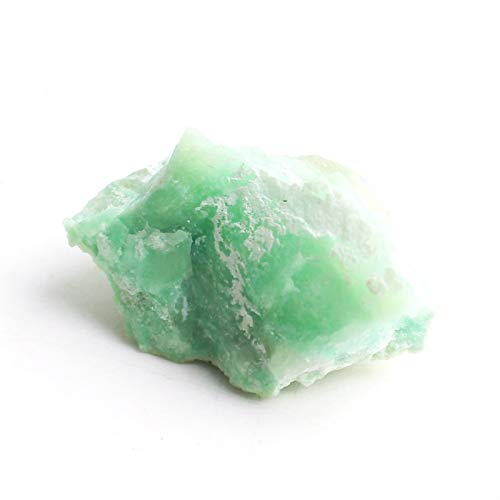 Oneriverspring40 1 stück Natürlicher grüner Mondstein Rockstone Mineralien Exemplar Unregelmäßige Form Rauhstein Wohnkultur (Color : Green Moonstone, Size : 60 80g)