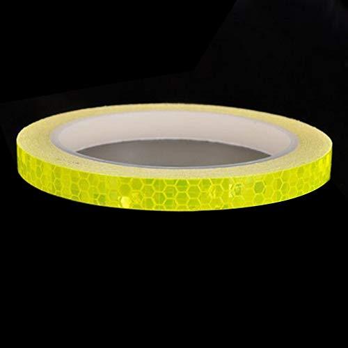 #N/D Cinta adhesiva reflectante de seguridad para llanta de rueda de bicicleta fluorescente