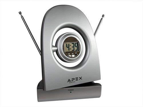 Apex SM550 Antenna Digital Amplified Indoor Silver Antenna HDTV Smart Connector Antenna Digital tv