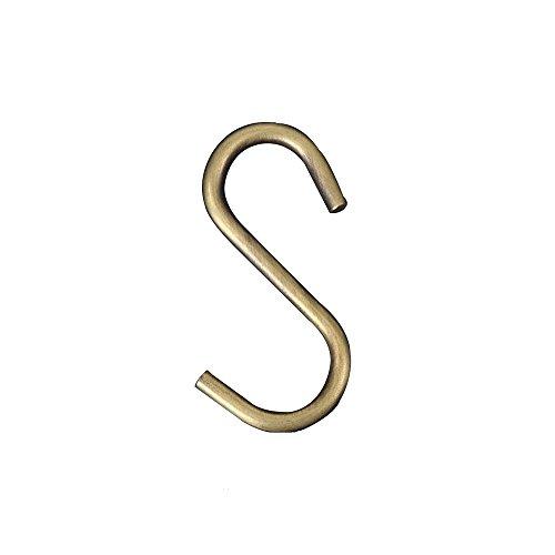 20Teile S-Form Haken topind Haken zum Aufhängen chrom und Bronze vergoldet für Jewelry Gartengeräte, für Pflanzen, S Haken Küche Topf Kleiderbügel Storage Rack bronze