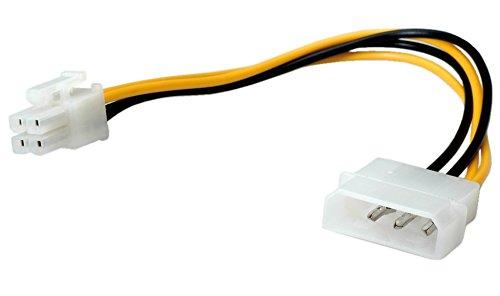 ROLINE 11031019 Internes Power Kabel, 4 Polig HDD auf ATX12V-P4 4-Polig, 0,15m Mehrfarbig