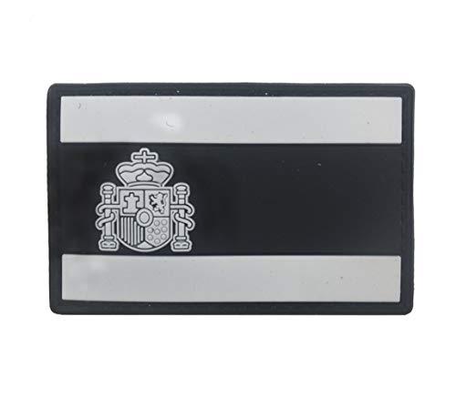 Ohrong España bandera nacional Espana PVC Morale Patch Ejército de combate Paintball insignia de goma Emblema Emblema Applique con gancho de respaldo para abrigos chaquetas Caps negro