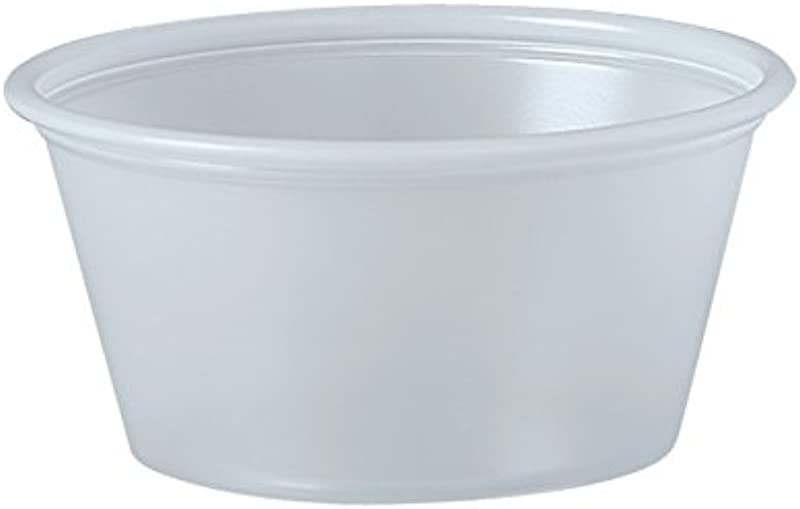 Dart P200N 2 Oz Translucent PS Portion Container Case Of 2500