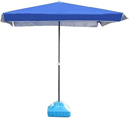 ZJJZ Sombrilla para el Sol Sombrilla Sombrillas de jardín Sombrilla Rectangular Azul para Patio Sombrilla de Mesa de Mercado al Aire Libre, jardín, Patio, Playa (Base no incluida)