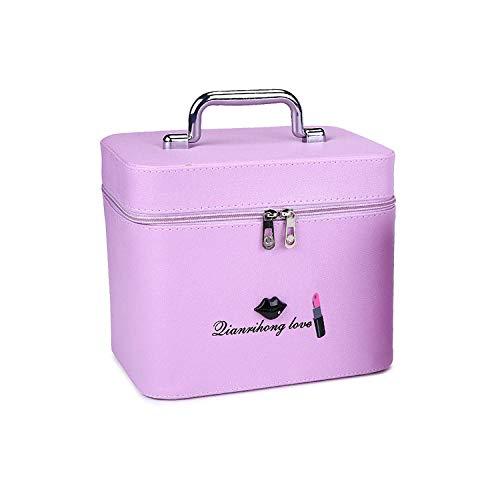 FRTU Beauty Case Tromba viola portatile multifunzionale impermeabile di grande capacità per la casa di moda casual da viaggio