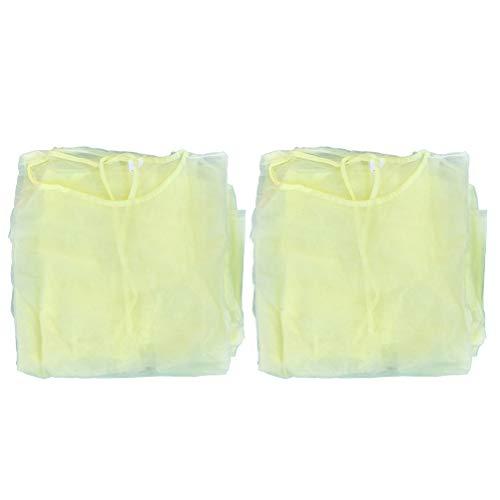 Healifty Macacão Iso la Tion com 8 peças, respirável, não tecido, roupa de parto, resistente a óleo, punhos elásticos, roupas amarelas para mulheres e homens