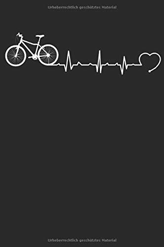 Herzschlag Herzlinie Herzfrequenz Fahrrad: Notizbuch DIN A5 I Dotted Punkteraster I 120 Seiten I Geschenk Sportart Radsport Mountainbike Rennrad  Mountain-Bike Freestyle Fahrradfahrer Fahrzeug Fahrer