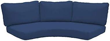 TK Classics 020CUSHION-CURVED-NAVY Cushions Patio Furniture, Navy