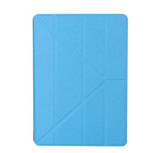 Case for iPad 9.7 2018 Tablet Multi-Angle Clear Back Case Model A1893 Cover for iPad 2017 9.7 inch Stand Shell,Sky Blue