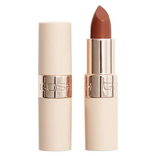 GOSH Luxury Nude Lippenstift mit leichtem Schimmer │ intensive Nudetöne für ein natürliches Ergebnis │ spendet Feuchtigkeit für weiche Lippen | langanhaltend, parfümfrei & 100% vegan | 005 Bare