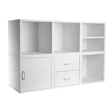 Foremost 340001 Modular 5-in-1 Shelf Cube Storage System, White