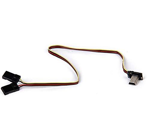 VUNIVERSUM 1 Stück FPV Live Video Kabel mit Mini USB Ausgang auf 2X JR BEC Male Servo Stecker Stromversorgung 5V Übetragung für GoPro Hero 3 4 Copter Drohne RC Flugzeug von Mr.Stecker Modellbau®