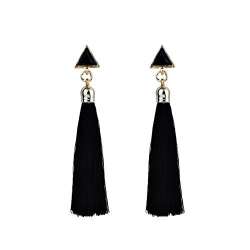 ARMAC Ladies Bohemian Long Triangle Tassel Earrings Fringe Drop Earrings Jewellery