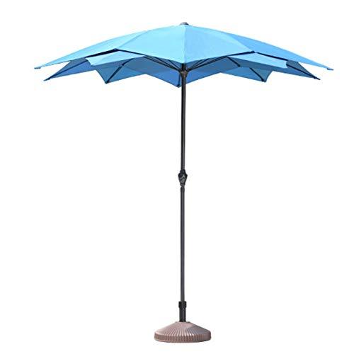 ZJM Sombrillas para Patio Sombrilla Sombrilla para Estación de Plancha, Paraguas de Mesa de Patio Trasero Informal al Aire Libre Sombra de Plantas de Servicio Pesado con 10 Varillas de Acero, Azul