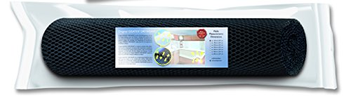 DryWEAVE C Gestoffeerde onderlegger matrasonderlegger, 100% PES monofilamenten, zwart, 201 x 160 cm