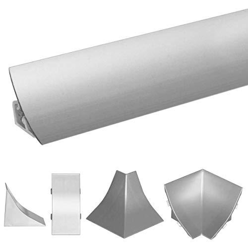 HOLZBRINK Tapa de PVC a juego con el copete de encimera aluminio 23x23 mm