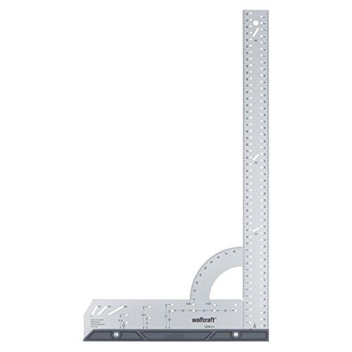 wolfcraft Universalwinkel 5206000 | Winkelmesser mit 500 mm Schenkellänge zum präzisen Anreißen und Zeichnen mit 90° Anschlagwinkel und abnehmbarer Winkelschiene