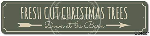 Watermelo Fresh Cut Christmas Tree Carteles de Chapa Carteles de Advertencia Carteles de Metal Decorado Bar Restaurante Cocina Oficina Tema Boda Cumpleaños Navidad Pascua Regalo