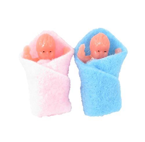 Melody Jane Casa de Muñecas 2 Swaddled Bebés Miniatura 1:12 Escala Gente Bebé en Manta