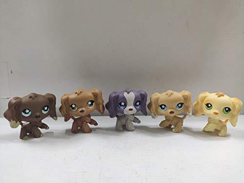 Littlest Pet Shop Cocker Spaniel Dogs Puppy LPS Animal Figure Toys 5 pcs/Set
