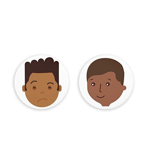 Lindos imanes para Nevera, Paquete de 2 imanes de Nevera, Emoji Humano, imanes de Oficina, Juego de 2