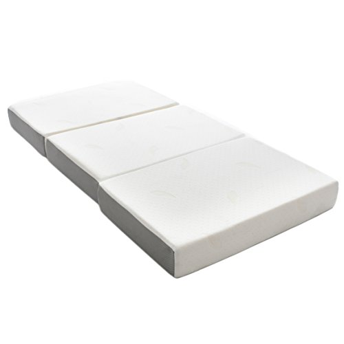 Milliard 15cm Thick Tri Folding Mattress/Tri Fold Guest Mattress with Ultra Soft Removable Cover with Non-Slip Bottom - Single (190cm x 90cm)