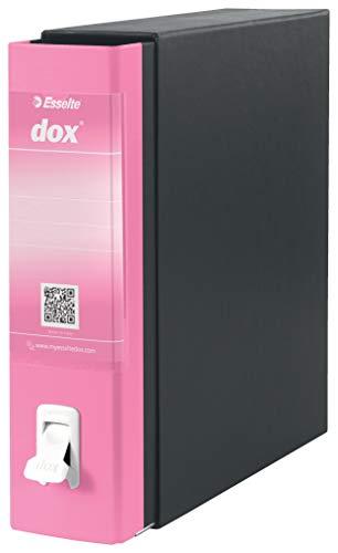Esselte Dox 1 - Archivador de anillas con palanca (formato A4), color rosa