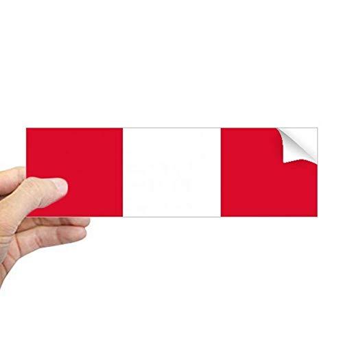 DIYthinker Peru Nationale Vlag Zuid-Amerika Land Rechthoek Bumper Sticker Notebook Window Decal