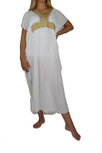 Marrakech Accessoires Orientalisches Kleid Kaftan Tunikakleid Strandkleid Sommerkleid Maxi - 905762-0023, Grösse:XL