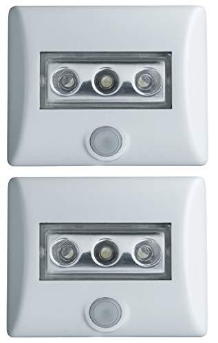Doppelpack OSRAM Nightlux LED Batteriebetriebene Leuchte, für Innenanwendungen, weiß [Energieklasse A+]
