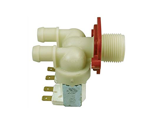 Magnetventil für Waschmaschine 2-fach 180° Ø 14,0 mm Bauknecht 481228128006