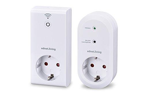 ednet Switch Smart Plug Starter Kit - App gesteuertes Smart Home System, 1x Gateway, 1x Smart Plug, für den Innenbereich, weiß