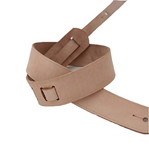 Tracolla Per Chitarra Cinturino Per Chitarra Acustica Elettrica Basso, Lussuoso Vera Pelle Tracolla Per Chitarra Cinturino Per Bambini Adulti-Marrone-115CM(45in)