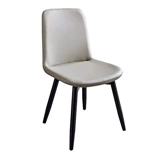 ZJN-JN Silla Sillas encimera de la Cocina Sillas de Comedor sillas de Ocio rellenados con Negro Patas de Madera sólida for la Cocina del hogar de la Sala (: 50x51x85cm Color, tamaño) Comedor