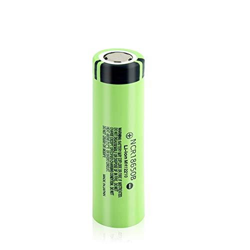 MNJKH Batería De Litio De NCR 18650b 3.7v 3400mah, BateríAs Recargables De La Parte Superior Plana para Cargar La Celda De Iones De Litio 1pc